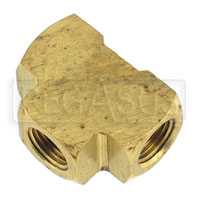 Click for a larger picture of Female Tee Fitting, 1/8 NPT  Brass