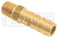 Click for a larger picture of 1/8 NPT to 3/8 Hose Barb Fitting, Brass - Straight