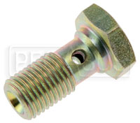 Click for a larger picture of Banjo Bolt, 3/8-24 Single, Short (0.78 Shank)