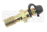 Click for a larger picture of Single Banjo Bolt with Bleed Screw, 10mm x 1.0 Thread