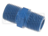 Click for a larger picture of AN911 Male NPT to Male NPT Pipe Nipple, Aluminum