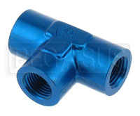 Click for a larger picture of AN917 Female NPT Pipe Tee - Aluminum