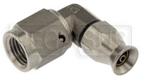 Click for a larger picture of 90 degree 3AN Hose End for Size 2 PTFE Brake Hose