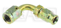 Click for a larger picture of 90 degree 3AN Hose End for Size 3 PTFE Brake Hose