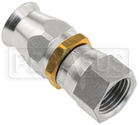 Click for a larger picture of Straight 6AN Hose End for Size 6 PTFE Hose