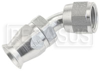 Click for a larger picture of 45 degree 6AN Hose End for Size 6 PTFE Brake Hose
