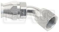 Click for a larger picture of 45 degree 8AN Hose End for Size 8 PTFE Brake Hose