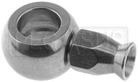 Click for a larger picture of Straight Banjo #2 Hose End, 3/8 inch (10mm)