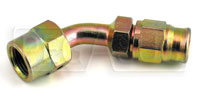 Click for a larger picture of 45 degree 1/8 BSP Female Hose End for -3 PTFE Brake Hose