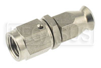Click for a larger picture of Stainless Straight 3AN Hose End for -3 Size PTFE Hose