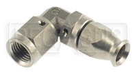 Click for a larger picture of Forged Stainless 90 degree 3AN Hose End for -3 PTFE Hose