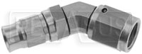 Click for a larger picture of Stainless 45 degree 4AN Hose End for -3 Size PTFE Hose