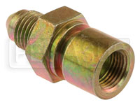 Click for a larger picture of 4AN/Female 42 degree Inverted Flare 7/16-24 Brake Adapter