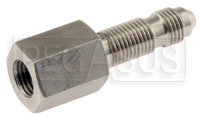 Click for a larger picture of 3AN Bulkhead Mount for 3/8-24 Bleeder Screw, Stainless Steel