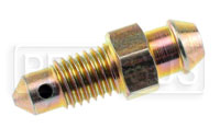 "Click for a larger picture of 1/4-28 Bleeder Screw, 0.90"" overall length, Steel"