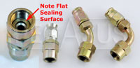 Click for a larger picture of Special BSP Hose Ends with Flat Sealing Surface, Size 3 Hose