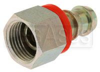 Click for a larger picture of Barbed Hose Fitting for 1/2 inch I.D. Rubber Hose