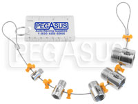 Click for a larger picture of BSPP Pipe Thread Identifier, 1/8 BSPP to 3/4 BSPP