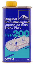 Click for a larger picture of ATE Type 200 (Amber) DOT 4 Racing Brake Fluid