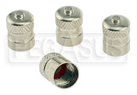 Click for a larger picture of Metal Valve Stem Caps (set of 4)