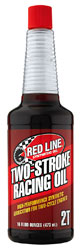 Click for a larger picture of Red Line Synthetic 2-Stroke Racing Oil, 16 oz Bottle