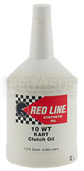 Click for a larger picture of Red Line Synthetic 10wt Kart Clutch Oil, Quart Bottle
