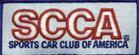 Click for a larger picture of SCCA Cloth Patch, Blue Border (for Drivers suit)