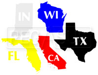 """Click for a larger picture of Custom Cut 2"""" Vinyl State Decal, Standard Colors"""