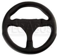 "Click for a larger picture of Anatomical Smooth Leather Steering Wheel, 270mm (10.6"")"