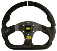 Click for a larger picture of OMP Superquadro Steering Wheel, Suede, 330mm