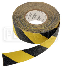 Click for a larger picture of Non-Skid Tape - Black/Yellow, 2 inch x 60 foot Roll