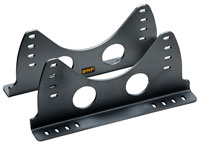 Click for a larger picture of OMP Aluminum Side-Mount Seat Brackets, Low, Black, FIA