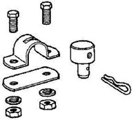 Click for a larger picture of Bolt-Down Housing Clamp plus Cable Fitting
