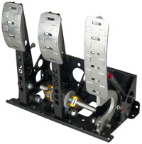 Click for a larger picture of OBP Pro-Race Floor Mount 3-Pedal Assembly, 2 Pot DBW, w/o MC