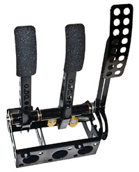 Click for a larger picture of OBP Pro-Race Cockpit Floor Mount 3-Pedal Assembly, w/o MC