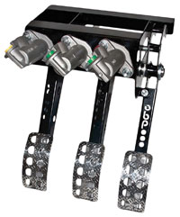 Click for a larger picture of OBP Pro-Race Overhung Mount 3-Pedal Assemby, with MC