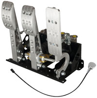 Click for a larger picture of OBP Pro-Race Floor Mount 3-Pedal Assy, w/ MC and Bias Cable