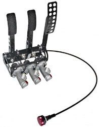 Click for a larger picture of OBP Pro-Race Cockpit Floor Mt 3-Pedal, w MC and Bias Cable