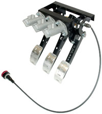 Click for a larger picture of OBP Pro-Race Overhung Mt 3-Pedal Assy, w MC and Bias Cable