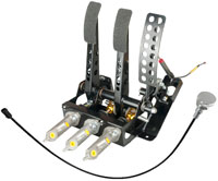 Click for a larger picture of OBP Track Pro 3-Pedal Box, 2 Pot w MC & Bias Cable, Impreza