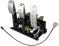 Click for a larger picture of OBP Pro-Race Floor Mt 3-Pedal, DBW w MC & Bias Cable