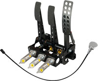 Click for a larger picture of OBP Pro-Race Cockpit Floor Mt 3-Pedal, 2 Pot w MC & Bias Cbl