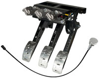 Click for a larger picture of OBP Pro-Race Overhung Mt 3-Pedal, DBW w MC & Bias Cable