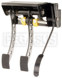 Click for a larger picture of OBP Firewall Mount 3-Pedal Assembly, w/o MC