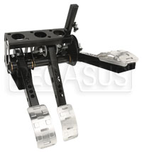 Click for a larger picture of OBP Pro-Race V2 3-Pedal Box, Overhung Mount, without MC