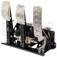 Click for a larger picture of OBP Pro-Race Floor Mount 3-Pedal Assy, DBW, w MC