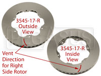 Click for a larger picture of Brake Rotor, Lola S2000, Directionally Vented