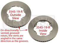 Click for a larger picture of Brake Rotor, Lola S2000, Directionally Vented, Grooved
