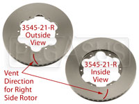 Click for a larger picture of Brake Rotor, DB2/DB5 w/LD65, Directionally Vented