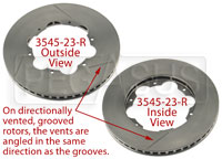 Click for a larger picture of Brake Rotor, DB2/DB5 w/LD65, Directionally Vented, Grooved